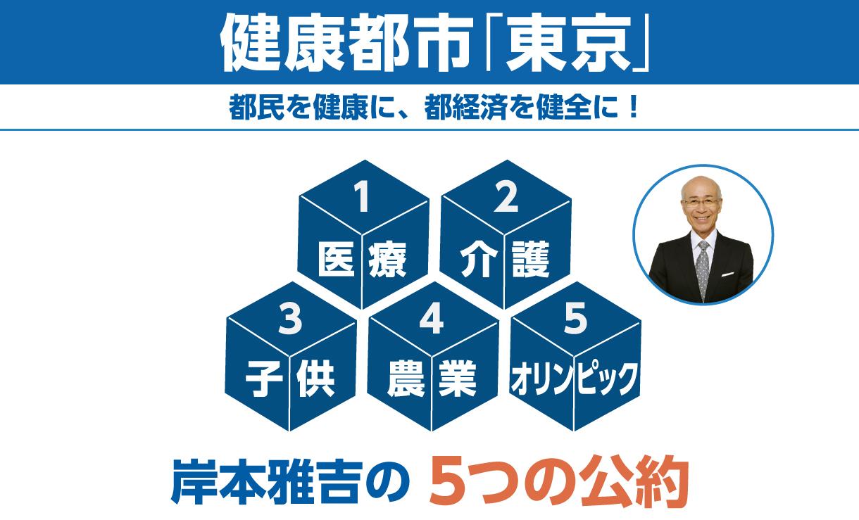 岸本雅吉の5つの公約